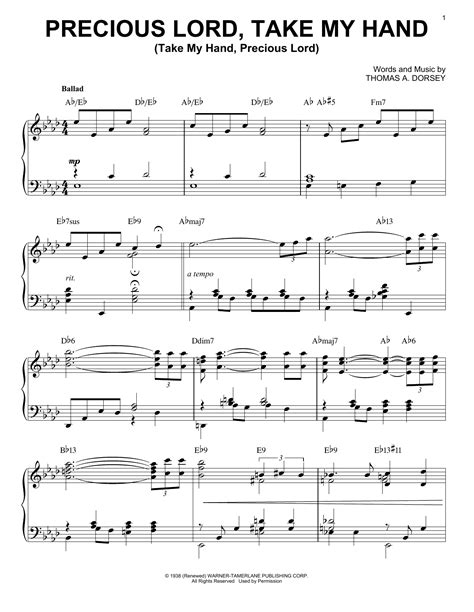 Precious Lord Take My Hand Duet For Bb Trumpet  music sheet