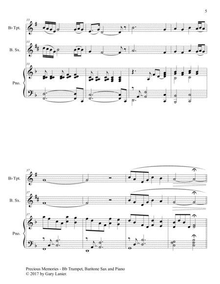 Precious Memories Trio Bb Trumpet Viola Piano With Score Parts  music sheet