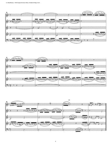 Prelude 08 From Well Tempered Clavier Book 1 Woodwind Quintet  music sheet