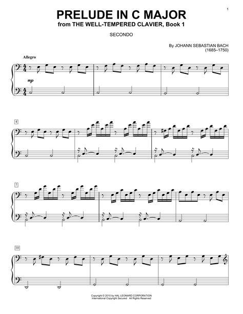 Prelude C  music sheet