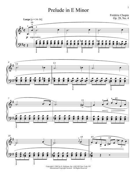 Prelude In E Minor Op 28 No 4 Violin Solo  music sheet