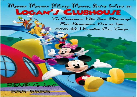 printable mickey mouse invitations eBay