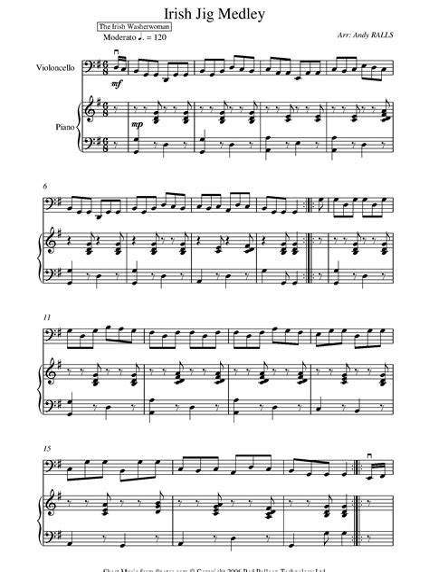 Promenade And Jig  music sheet