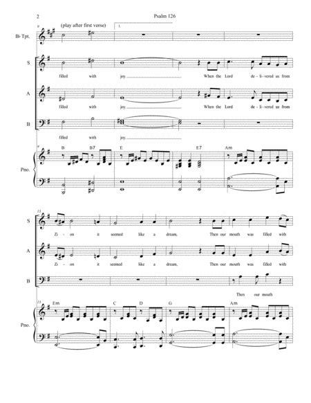 Psalm 126 For Sab  music sheet