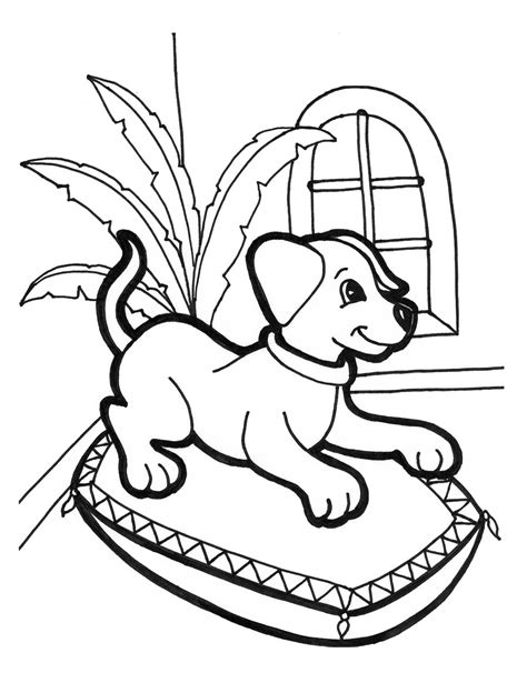 puppies Coloring Pages Free and Printable