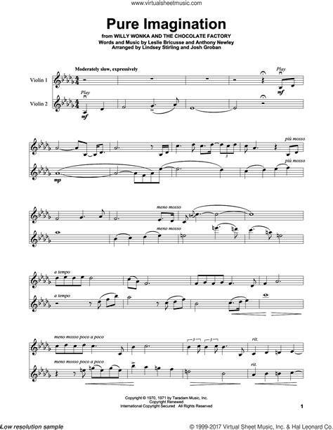 Pure Imagination Solo Violin For Violin Solo  music sheet