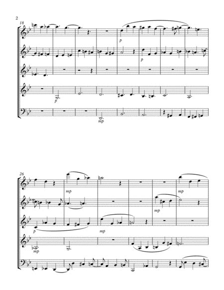 Quintet For Flute Oboe Clarinet Horn And Bassoon  music sheet