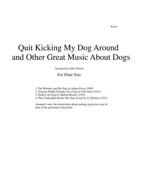 Quit Kicking My Dog Around And Other Music About Dogs For Flute Trio  music sheet
