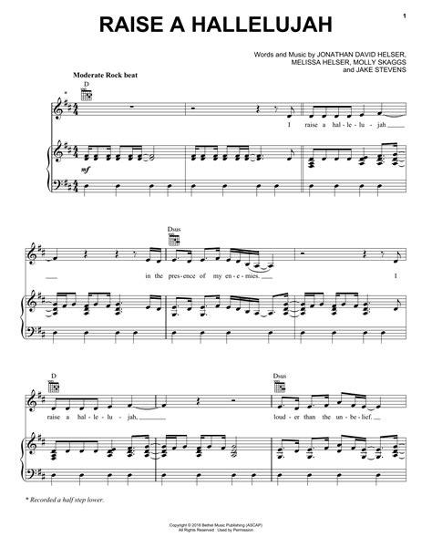 Raise A Hallelujah Bethel Music Jonathan Helser Sheet Music Easy Piano  music sheet