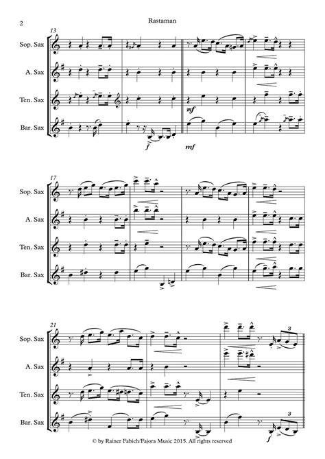 Rastaman From Five Sax Reggaes  music sheet
