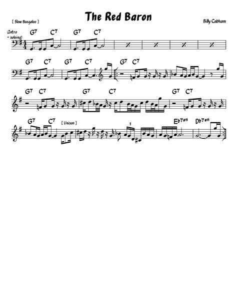 Red Baron Lead Sheet C  music sheet