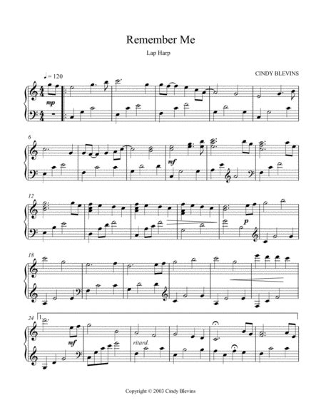 Remembrance An Original Solo For Lap Harp From My Book Gentility Lap Harp Version  music sheet