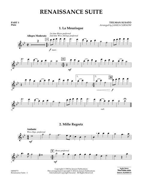 Renaissance Suite  music sheet