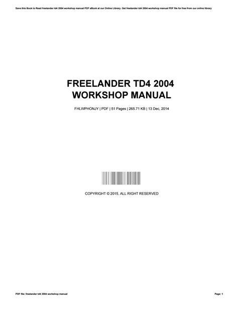 free download ebooks Repair Manual Lander Td4.pdf
