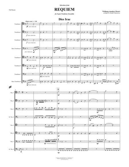 requiem selections for 8 part trombone ensemble music sheet