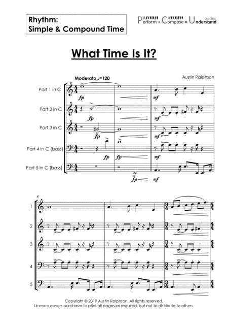 Rhythm Simple Compound Time Educational Pack Perform Compose Understand Pcu Series  music sheet