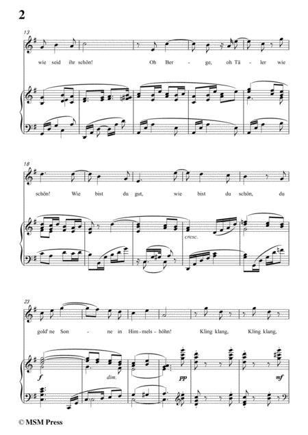 Richard Strauss Schlagende Herzen In G Flat Major For Voice And Piano  music sheet