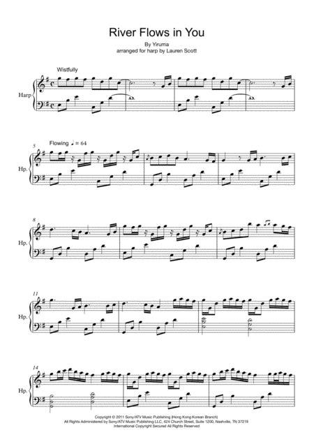 River Flows In You Harp Version  music sheet