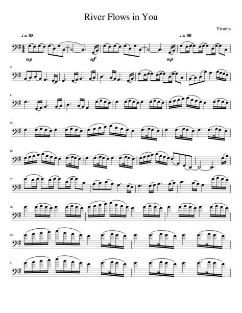 river flows in you piano cello music sheet