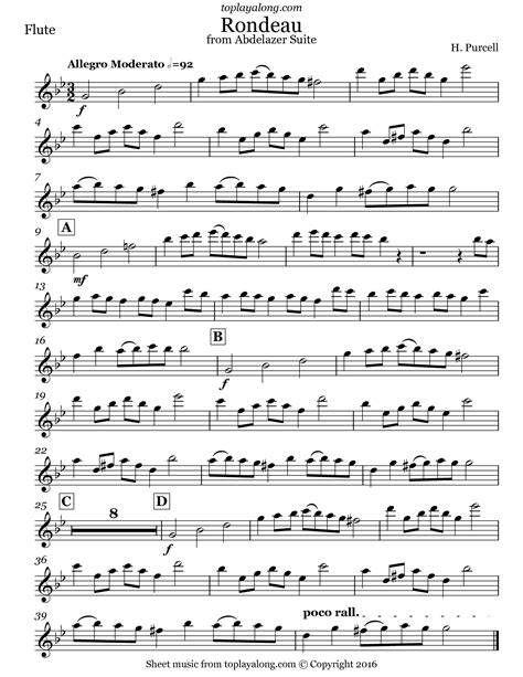 rondeau for school orchestra music sheet