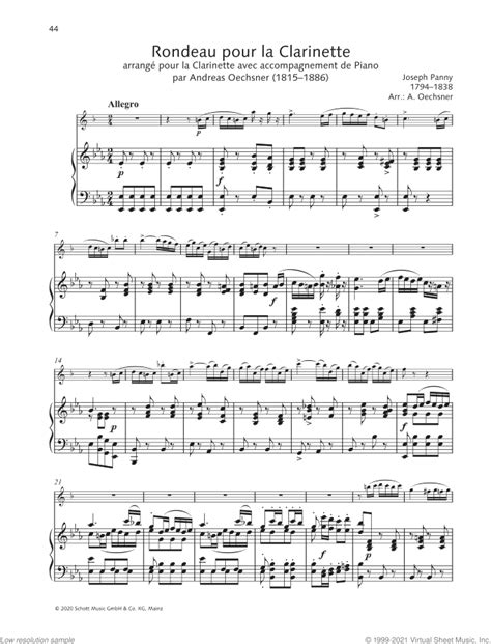 Rondeau Pour La Clarinette  music sheet