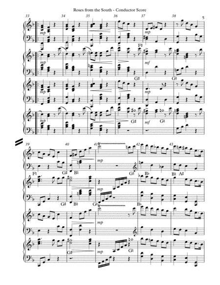 Roses From The South Op 388 Second Waltz Lever Harp Score Parts  music sheet