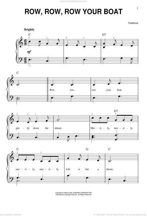 Row Row Row Your Boat  music sheet