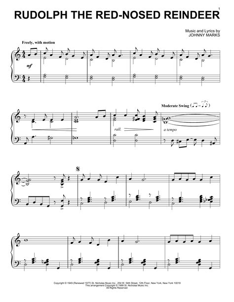Rudolph The Red Nosed Reindeer For Clarinet And Bass Clarinet Duet  music sheet