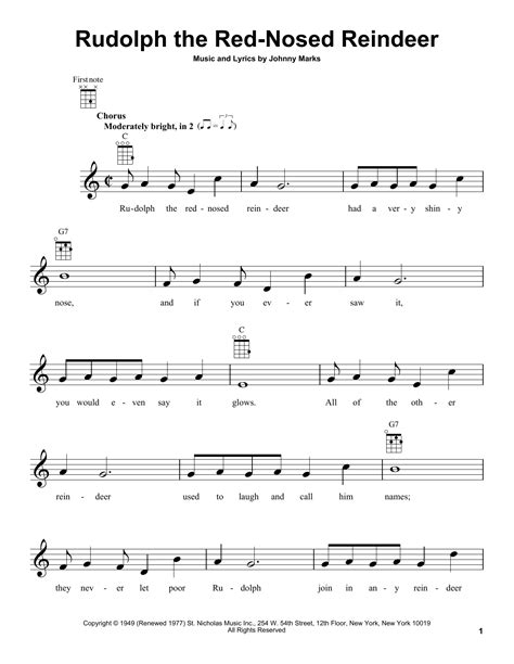 Rudolph The Red Nosed Reindeer Trombone Solo And Piano  music sheet