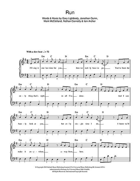 Run For It  music sheet