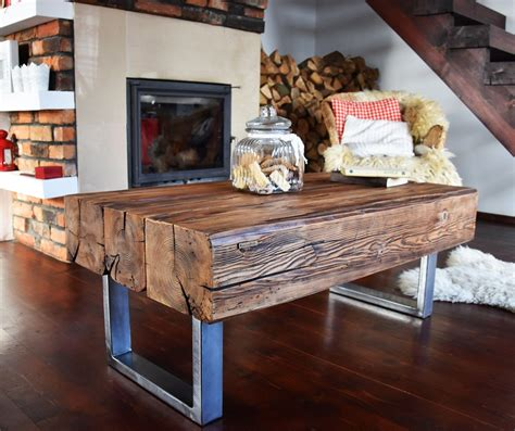 rustic coffee tables unique and handmade from the log