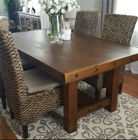 rustic dining room tables eBay