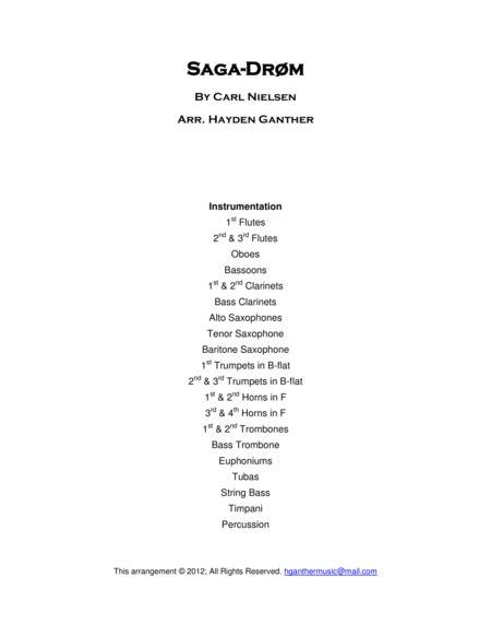 Saga Drm  music sheet