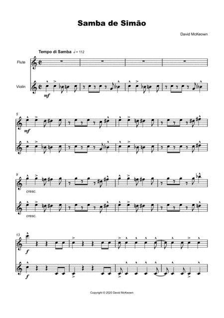 Samba De Simo For Flute And Trumpet Duet  music sheet