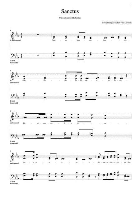 Sanctus Saint Hubert Mass  music sheet