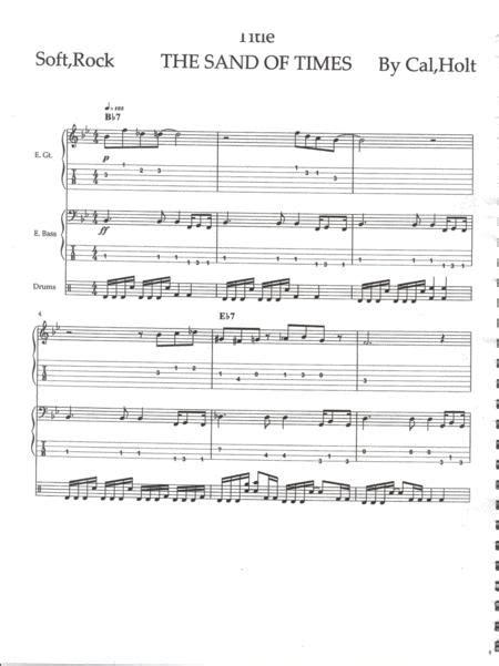 Sandy Of Time  music sheet