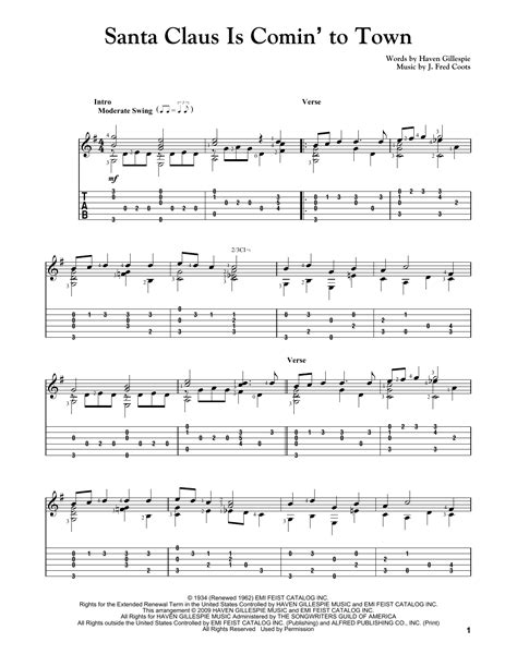 Santa Claus Is Comin To Town Duet For Trumpet And Trombone  music sheet