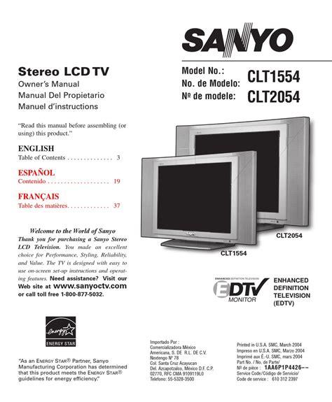free download ebooks Sanyo Vizon Clt1554 Manual.pdf