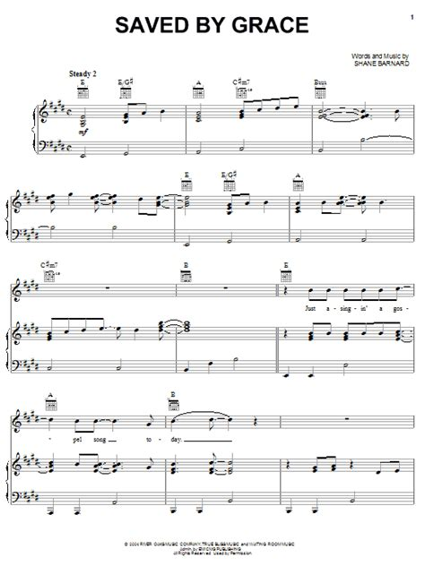 Saved By Grace For Easy Piano  music sheet
