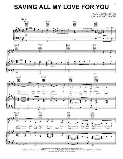 Saving All My Love For You Piccolo Flute And Oboe Solo With Chords  music sheet