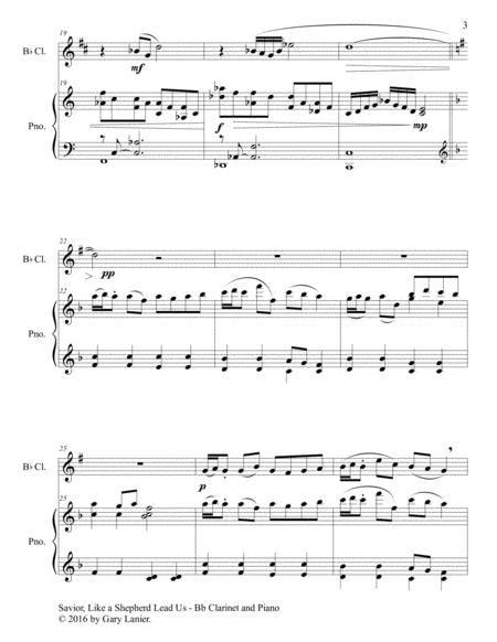 Savior Like A Shepherd Lead Us Duet Bb Clarinet Piano With Parts  music sheet