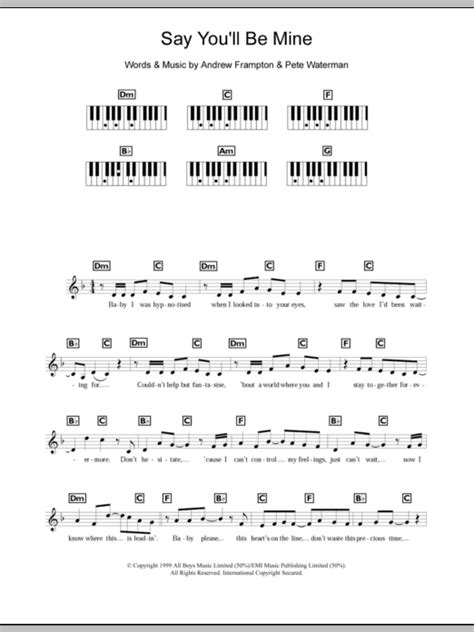 Say You Will Always Be Mine  music sheet