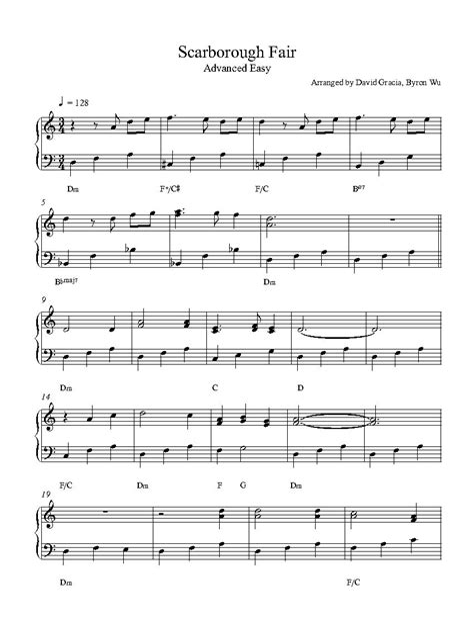 Scarborough Fair Piano Trio  music sheet