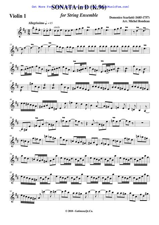 Scarlatti Sonate D Major L 214 For Piano  music sheet