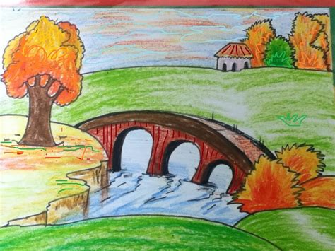 scenery drawing for kids in simple steps YouTube