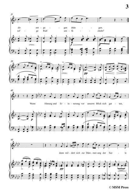Schubert Abendlied Fr Die Entfernte Op 88 In A Flat Major For Voice Piano  music sheet