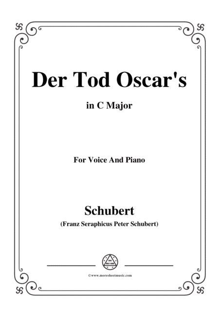 schubert an den tod in c major for voice piano music sheet