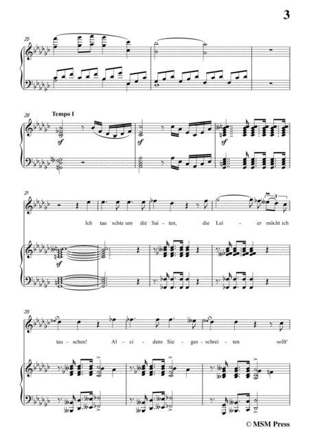 Schubert An Die Leier To My Lyre Op 56 No 2 In E Flat Minor For Voice Piano  music sheet