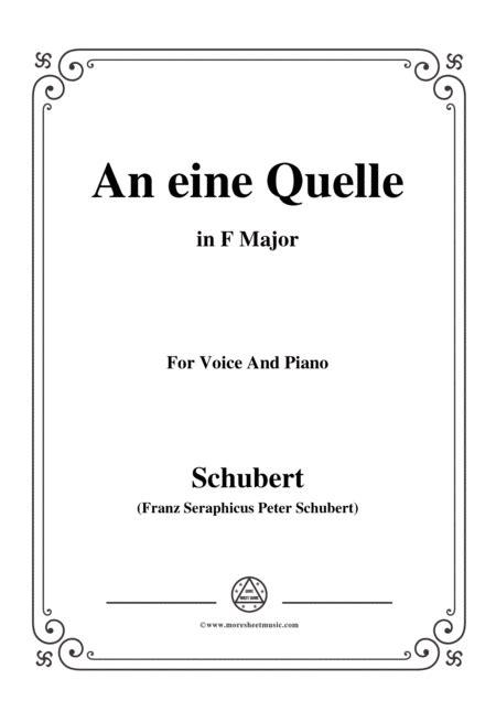 Schubert An Eine Quelle In A Major Op 109 No 3 For Voice And Piano  music sheet