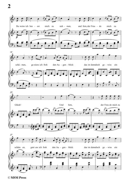 Schubert Atys In B Flat Minor For Voice And Piano  music sheet